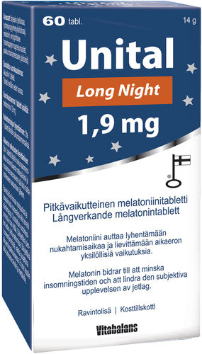 Unital Long Night Pitkävaikutteinen Melatoniini
